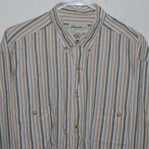 Eddie bauer button up mens shirt size XL J705